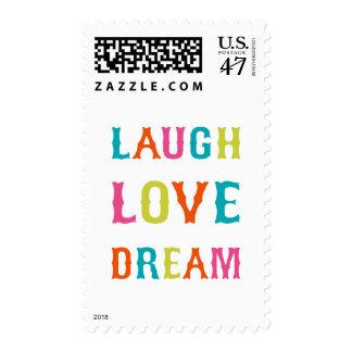 LAUGH LOVE DREAM! POSTAGE STAMP