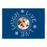 Laugh, Love, Live: Navy Blue Cards
