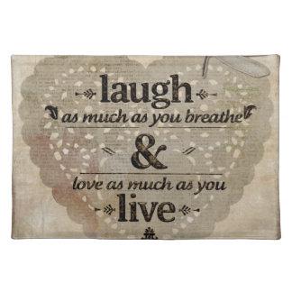 Laugh, Love, Live Placemat