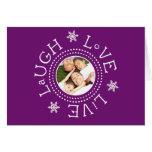 Laugh, Love, Live: Plum Greeting Card