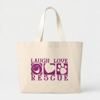 Laugh Love Rescue Canvas Bags