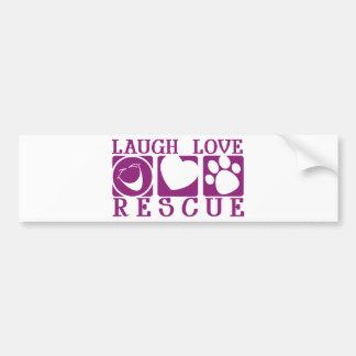 Laugh Love Rescue Bumper Sticker