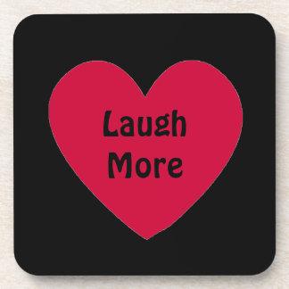 laugh more drink coaster