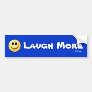 LAUGH More Smiley Face Bumper Sticker Car Bumper Sticker