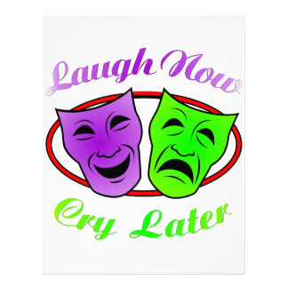 Laugh Now Cry Later Masks Letterhead