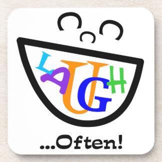 Laugh Often.png Beverage Coaster