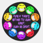 LAUGH ON CREDIT STICKER