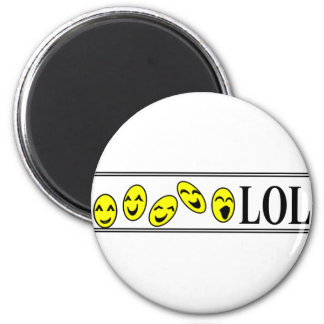 laugh out loud 2 inch round magnet