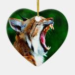 Laugh out loud bobcat lynx wildcat ornament