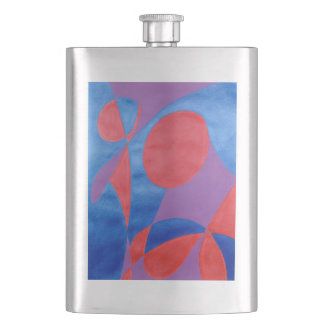 Laugh Painted in Abstract Word Art Flask