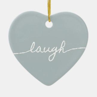 Laugh Pastel Minimalist Typographic Design Christmas Tree Ornaments