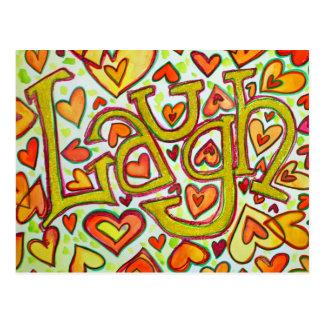 Laugh Post Card