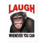 laugh postcard