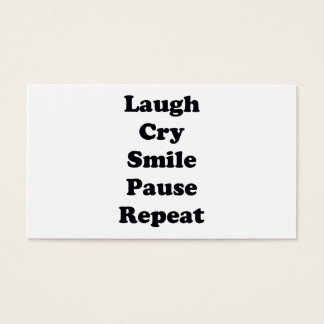 Laugh Repeat Business Card