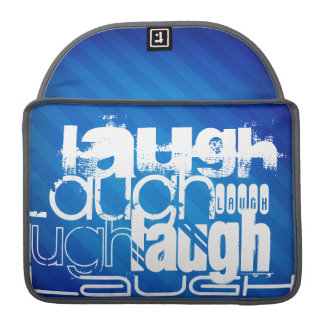 Laugh; Royal Blue Stripes Sleeve For MacBooks
