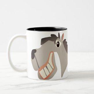 Laugh The Horse Two-Tone Coffee Mug