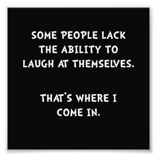 Laugh Themselves Photo Print