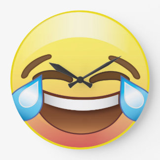 Laugh till you Cry, Tears of Happiness Emoji Clock