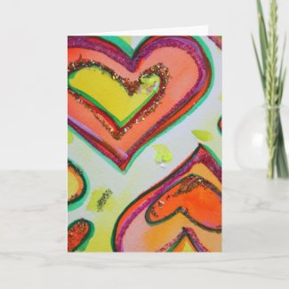 Laugh Two Hearts Greeting Card or Note Cards
