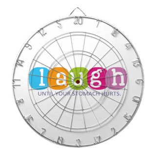 Laugh until your stomach hurts dart board