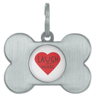 Laugh with Heart Pet ID Tag