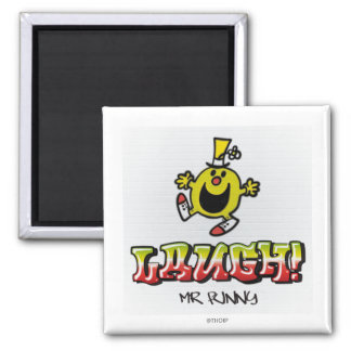 Laugh With Mr. Funny 2 Inch Square Magnet
