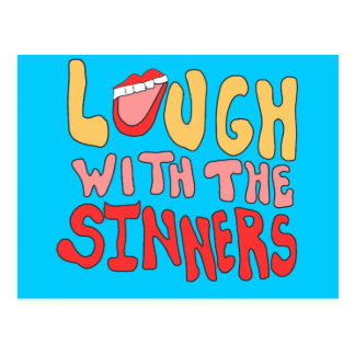 Laugh With The Sinners Postcard