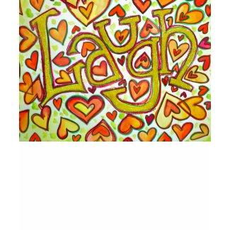 Laugh Word Art Glitter T-shirt shirt