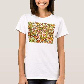 Laugh Word Art Glitter T-shirt