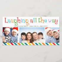 Laughing All The Way Christmas Family Photo Card