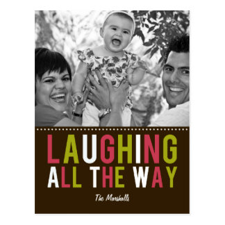 Laughing All The Way Holiday Photo Card Postcard