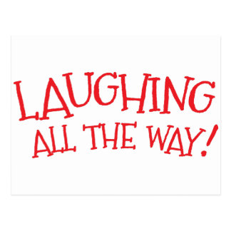 Laughing all the way postcard