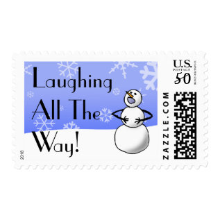 Laughing All The Way Stamp at Zazzle