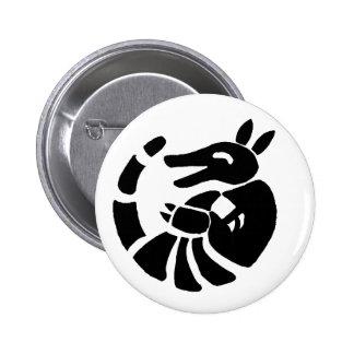 Laughing Armadillo Pinback Button