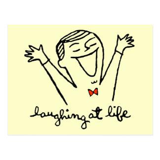 Laughing at Life Postcard
