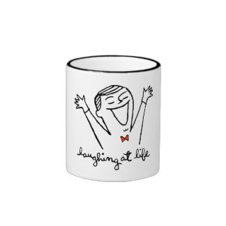 Laughing at Life Ringer Coffee Mug