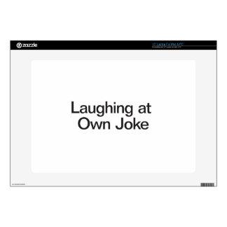 Laughing At Own Joke Laptop Decal