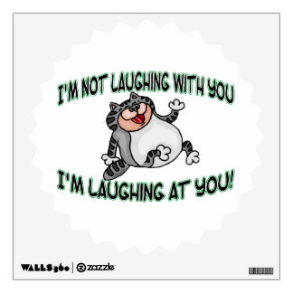 Laughing At You Cat Wall Sticker