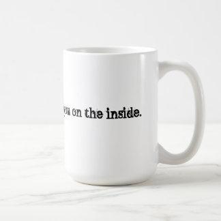 Laughing at you classic white coffee mug