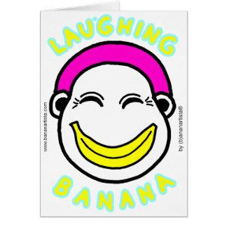LAUGHING BANANA GREETING CARD