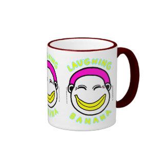 LAUGHING BANANA RINGER COFFEE MUG