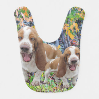 Laughing Basset Hounds Bib