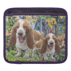 iPad Sleeve with Basset Hound Phone Cases design