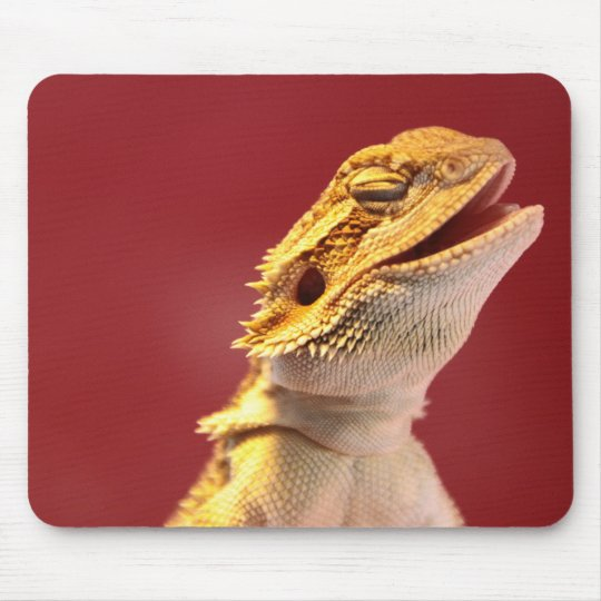 Laughing Bearded Dragon Mouse Pad