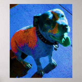 Laughing Blue Dog Print