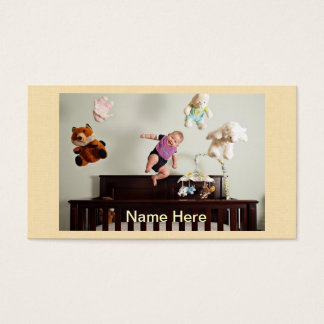 laughing bouncing baby business card