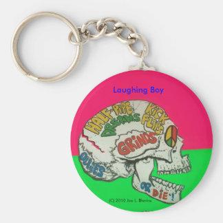 Laughing Boy Basic Round Button Keychain