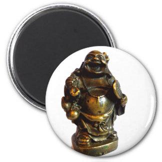 Laughing Buddha 2 Inch Round Magnet