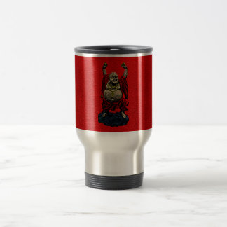 Laughing Buddha (4 color) 15 Oz Stainless Steel Travel Mug