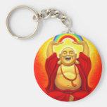 Laughing Buddha Basic Round Button Keychain